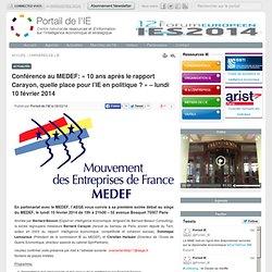 Conférence au MEDEF