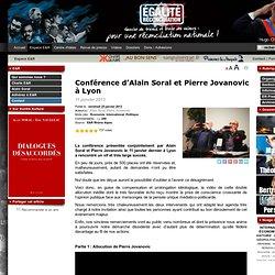 Conférence d'Alain Soral et Pierre Jovanovic à Lyon