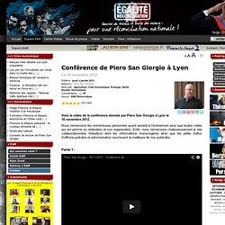 Conférence de Piero San Giorgio à Lyon