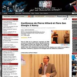 Conférence de Pierre Hillard et Piero San Giorgio à Nancy