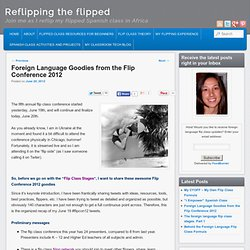 Foreign Language Resources from the Flip Class Conference 2012