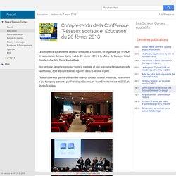 """Compte-rendu de la Conférence """"Réseaux sociaux et Education"""""""