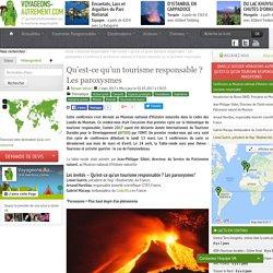 Conférence au Muséum national d'Histoire naturelle sur le tourisme responsable ? Les paroxysmes