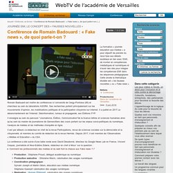 Conférence de Romain Badouard : « Fake news », de quoi parle-t-on ?