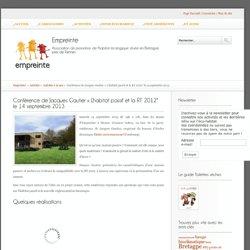"""Conférence de Jacques Gautier """"L'habitat passif et la RT 2012"""" le 14 septembre 2013 - Empreinte"""