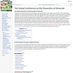 The Global Conference on the Prevention of Genocide - SourceWatc