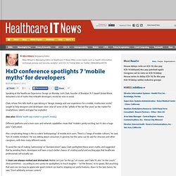 HxD conference spotlights 7 'mobile myths' for developers
