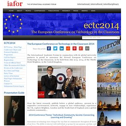 The European Conference on Technology in the Classroom 2014