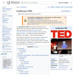 Conférence TED