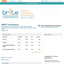 BRITE '14 Conference Tickets, New York