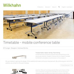 Conference Timetable / mobile table / foldable meeting table
