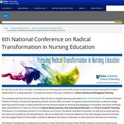 6th National Conference on Radical Transformation in Nursing Education