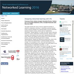 Research Paper, Networked Learning Conference 2016 - NLC2016, Lancaster University UK