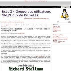 27/09/2012 Conférence de Richard Stallman à l'ULB - BxLUG
