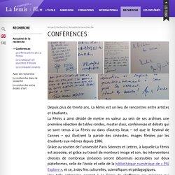 [FR] Conférences / La Fémis