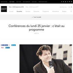 Conférences du lundi 25 janvier : c'était au programme – Actualités – MAISON&OBJET PARIS