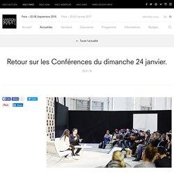 Retour sur les Conférences du dimanche 24 janvier. – Actualités – MAISON&OBJET PARIS