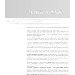 TEXTES / CONFERENCES - JUDITH AVENEL - Art contemporain -
