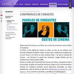Fémis l Conférences de cinéastes