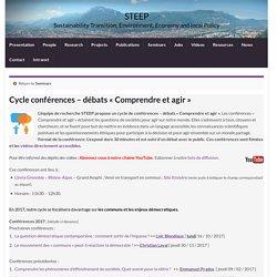 Cycle conférences – débats « Comprendre et agir » » STEEP