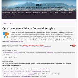 Cycle conférences – débats « Comprendre et agir » – STEEP