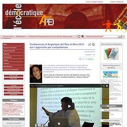 Conférences d'Angélique del Rey et Nico Hirtt sur l'approche par compétences - L'école démocratique