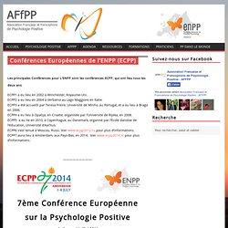 Conférences Européennes de l'ENPP (ECPP)
