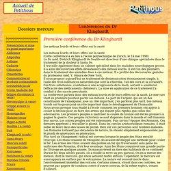 Première conférence du Dr Klinghardt (1998)