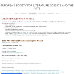 Conferences - European Society for Literature, Science and the Arts