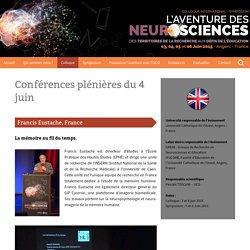 Colloque Neurosciences Angers 2015 - Conférences du 4 juin