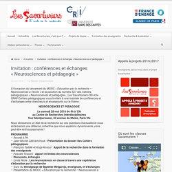 – Invitation : conférences et échanges «Neurosciences et pédagogie»