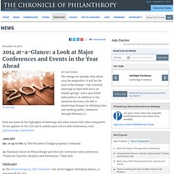 2014 at-a-Glance: a Look at Major Conferences and Events in the Year Ahead - News
