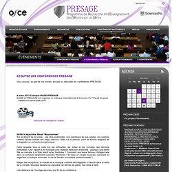 e-conférences PRESAGE - Présage
