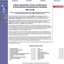 Agenda mondial des salons : conférences, congrès et salons professionnels
