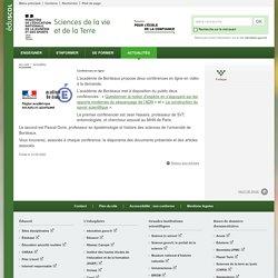 Conférences en ligne-Sciences de la vie et de la Terre-Éduscol