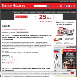 Agenda conférences débats, agenda séminaire, agenda colloque, agenda congrès, agenda journée étude