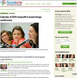 Calendar of 2011 nonprofit & social change conferences