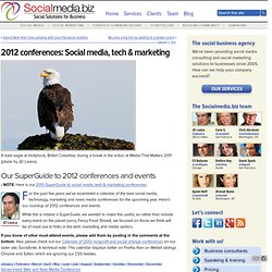 2012 conferences: Social media, tech & marketing