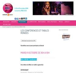 Les conférences et tables rondes - Swiss Web Festival