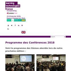 Programme des Conférences 2018 - Learning Technologies France 2018