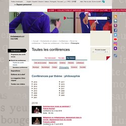 Les Cours et conférences de philosophie de la Bibliothèque Nationale de France