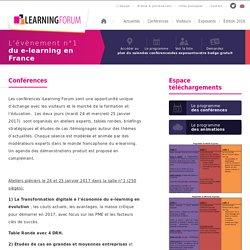 Conférences iLearning Forum : éducation & transformation digitale