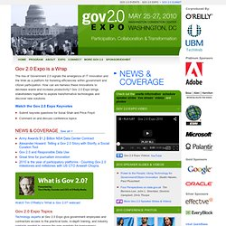 Gov 2.0 Expo 2010 - Co-produced by TechWeb & O'Reilly Conference