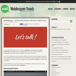 Webdesign : 18 des plus beaux sites de conférences