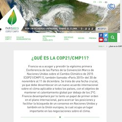 COP21 - Conferencia de las Naciones Unidas sobre el Cambio Climático