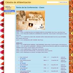 Textos de las Conferencias - Clases - Cátedra de Alfabetización
