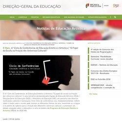 6.º Ciclo de Conferências de Educação Estética e Artística