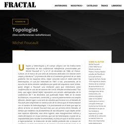 Topologías (Dos conferencias radiofónicas)