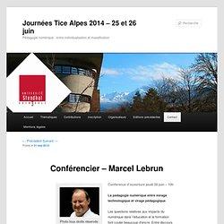 Conférencier – Marcel Lebrun | Journées Tice Alpes 2012