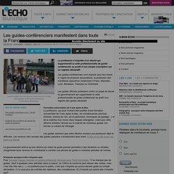 Les guides-conférenciers manifestent dans toute la France